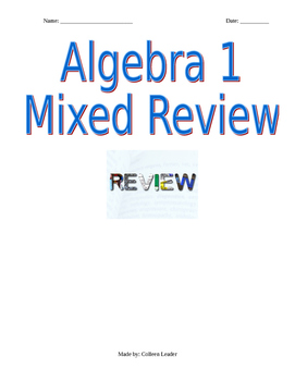Mixed Review Algebra 1