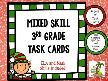 Mixed Review Holiday Task Cards