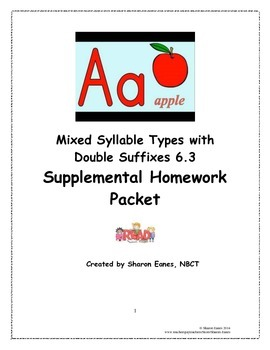 Mixed Syllable with Double Suffixes 6.3 Supplemental Homew
