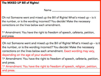 Mixed Up Bill of Rights