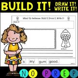 NO PREP! Mixed Up CVC Sentences!  Build it! Draw it! Write it!