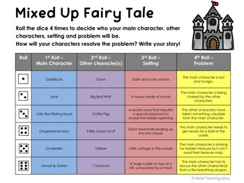 Mixed Up Fairy Tale - Writing Prompt