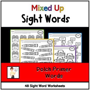 Mixed Up Kindergarten Treasures Sight Words Printables