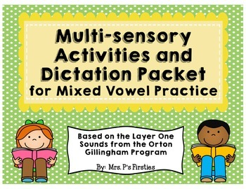 Mixed Short Vowels Practice & Dictation {based on Orton Gi