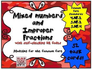 Mixed Numbers and Improper Fractions - Modeling for the Co