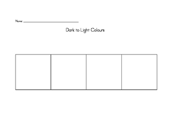 Mixing Colours From Dark to Light