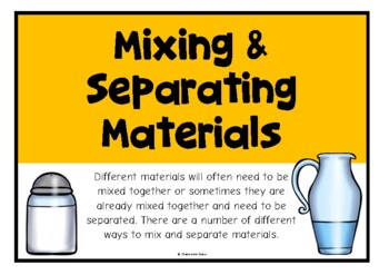 Mixing and Separating Materials