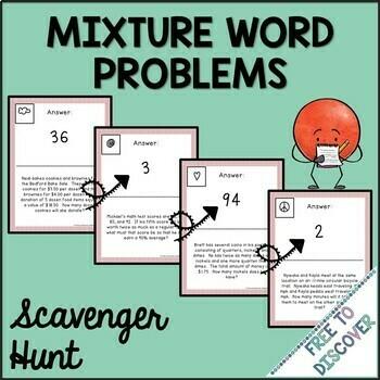 Mixture Problems Scavenger Hunt