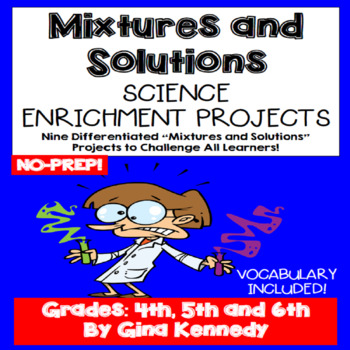 Mixtures And Solutions Enrichment Projects, Vocabulary Handout
