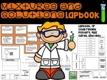 Mixtures and Solutions Lapbook: A FOSS Unit Review