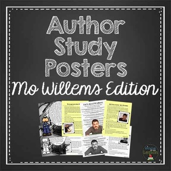 Mo Willems Author Study Posters