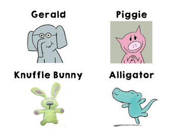 Mo Willems - Character Cards - Write the Room