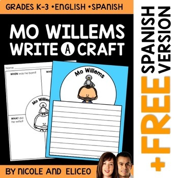 Mo Willems Author Study Craft