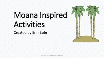 Moana Inspired Unit Activities