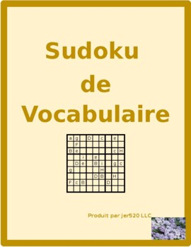 Mobilier (Furniture in French) Sudoku