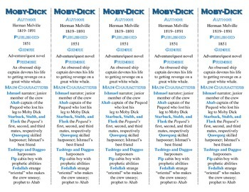 Moby-Dick edition of Bookmarks Plus--A Very Handy and Usef