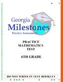 (6th Grade) Mock Georgia Milestones (GSE) Math Practice Te