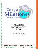 Mock Georgia Milestones (GSE) Math Practice Test Bundle