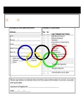 Mock Olympic Athlete Application