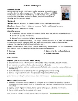 Mockingbird Introduction Handout