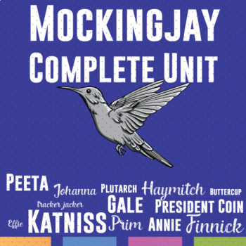 Mockingjay Bundle: Quizzes, Task Cards, Test, Writing Prompts