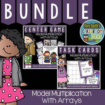 Model Multiplication with Arrays Task Cards, Recording She