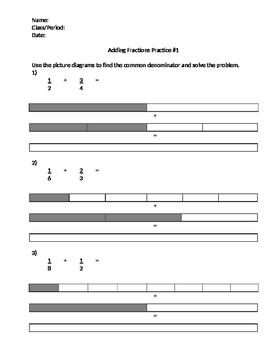 Modeling Adding Fractions