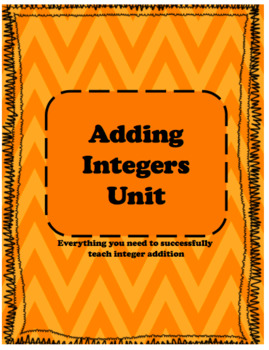 Modeling Addition and Subtraction of Integers Unit