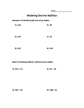 Modeling Decimal Addition and Subtraction