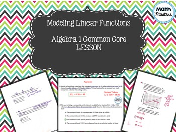 Modeling Linear Functions