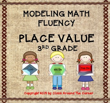 Modeling Math Fluency:  Place Value for 3rd Grade