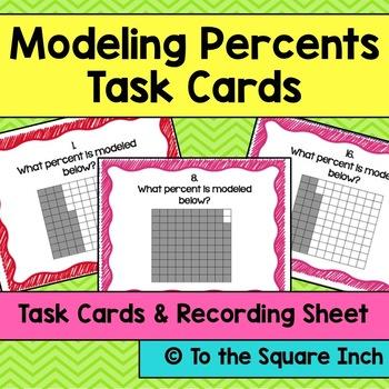 Modeling Percents Task Cards