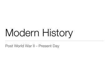 Modern American History Presentation - 1950, 1960, 1970, 1