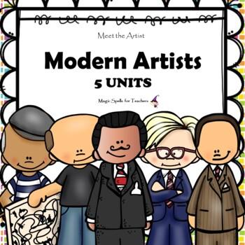 Modern Artists  - Dali - Mondrian - Picasso - Pollack - Warhol