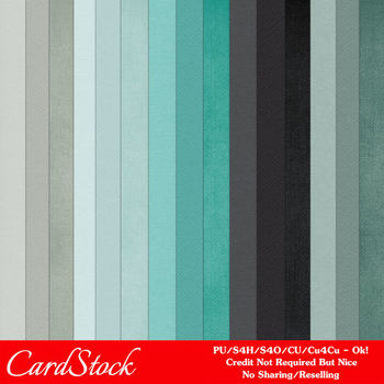 Modern Hues Colors 5 Cardstock Digital Papers
