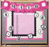 Modern Pink Black & Gray Classroom Bulletin Board Set