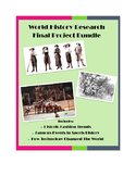 Modern World History Project Bundle: Fashion, Sports, Technology