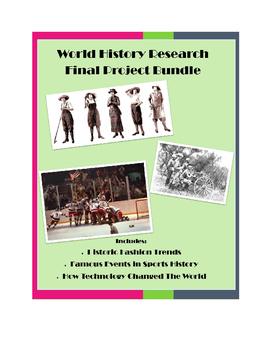 Modern World History Project Bundle: Fashion, Sports, Technology