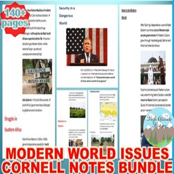 Modern World Issues Cornell Notes *Bundle* (World History)