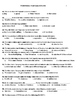 Modern world history final exam, with answer key and review sheet