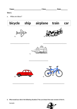 Modes of Transportation _ Adjectives Present Past Tense Ve