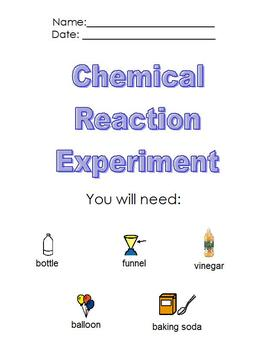 Modified Chemistry Experiment; Chemical Reaction; boardmaker