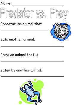 Modified Science Notes; Examples of Predator vs. Prey Colo