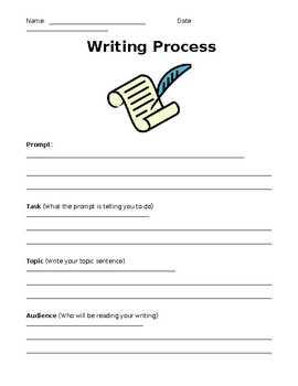 Modified Writing Outline with Rubric