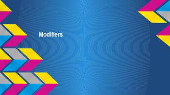 Modifiers Powerpoint