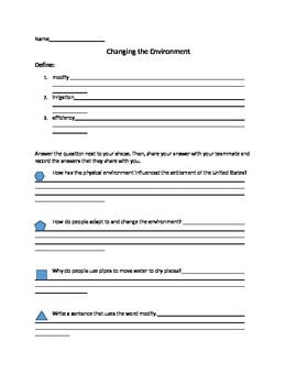 Modify the Environment Guided Reading
