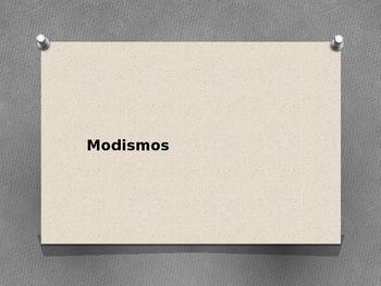 Modismos/ Idioms (In Spanish)
