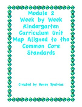 Module 2 Kindergarten Curriculum Map Aligned to the Common
