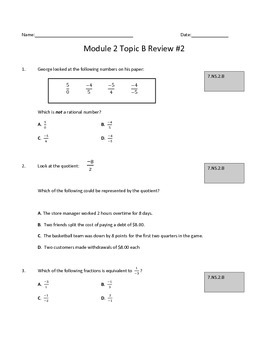 Module 2 Topic B Review #2: Multiplying and Dividing Ratio