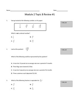 Module 2 Topic B Review #1: Multiplying and Dividing Ratio